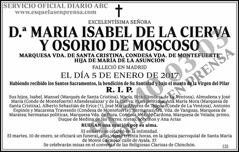 María Isabel de la Cierva y Osorio de Moscoso